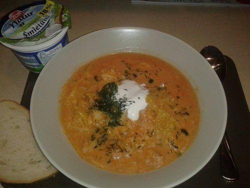 Zupa a la gołąbki.